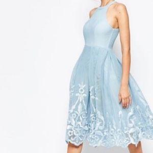ASOS Evening Dress Powder Blue Size 10